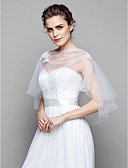 baratos Estolas de Casamento-Tule Casamento / Festa Wraps casamento Com Capa