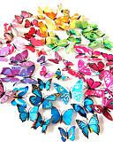 voordelige Damesjurken-Dieren Muurstickers 3D Muurstickers Decoratieve Muurstickers Lichtknop Stickers Koelkaststickers Bruiloftsstickers, PVC Huisdecoratie