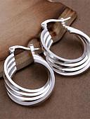 ieftine Gadgeturi de baie-Pentru femei Cercei Rotunzi - Plastic Personalizat, Modă Alb Pentru Nuntă Petrecere Zilnic / 2pcs
