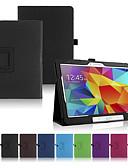 billige Fest Kjoler-SHI CHENG DA Etui Til Samsung Galaxy / Tab A 9.7 Samsung Galaxy etui Med stativ / Flip Fuldt etui Helfarve PU Læder for Tab 4 10.1 / Tab Pro 10.1