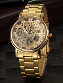 cheap Mechanical Watches-Men's Wrist Watch Hollow Engraving Stainless Steel Band Charm Gold