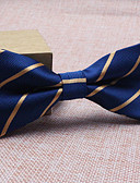 cheap Men's Ties & Bow Ties-Men's Party Work Basic Polyester Bow Tie - Striped