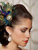 economico Abbigliamento balli da sala-Piume Accessori per capelli Pelle Accessori Parrucche Per donna pezzi 6-10cm cm