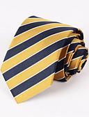 cheap Men's Accessories-Men's Party/Evening Yellow And Navy Blue Striped Necktie #PT065