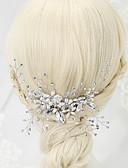 olcso Szalagavató ruhák-Gyöngyutánzat Strassz Ötvözet Hajfésű 1 Esküvő Különleges alkalom Sisak
