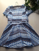 cheap Women's Dresses-Women's Cute Skater Dress Flower Print