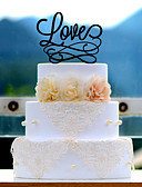 cheap Wedding Veils-Cake Topper Acrylic Wedding Anniversary Bridal Shower with 1 Poly Bag