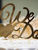 cheap Wedding Veils-Cake Topper Classic Theme Classic Couple Hard Plastic Wedding Anniversary Bridal Shower with 1 OPP