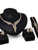 ieftine Rochii de Damă-Pentru femei Set bijuterii - Declarație Include Auriu Pentru Nuntă Petrecere / 4 buc / Inele / Coliere