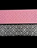 billige Trendy klokker-blonder blomst grense silikon kake mold deco fondant bake verktøy