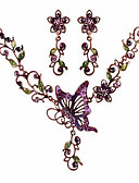 cheap Bras-Jewelry Set - Cubic Zirconia Butterfly, Animal Vintage, Party, Casual Include Rainbow For Party / Special Occasion / Anniversary / Earrings / Necklace