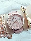 abordables Relojes de Moda-Mujer Reloj de Pulsera envolver reloj Cuarzo Cuero Sintético Acolchado Negro / Blanco / Rosa Huecograbado Analógico damas Moda Elegante - Blanco Negro Rosa