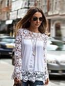 זול חולצות לנשים-טלאים יום יומי מידות גדולות חולצה תחרה / לגזור / סתיו