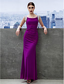 cheap Evening Dresses-Sheath / Column Scoop Neck Ankle Length Chiffon Prom / Formal Evening Dress with Ruched by TS Couture®