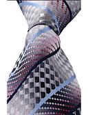זול עניבות ועניבות פרפר לגברים-עניבת צווארון פוליאסטר דפוס מסיבה עבודה בסיסי יוניסקס