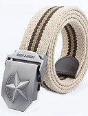 baratos Cintos de Moda-Homens Activo Básico Liga, Cinto para a Cintura Listrado