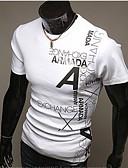 preiswerte Herren T-Shirts & Tank Tops-Herrn Solide Sport Wochenende Arbeit Übergrössen T-shirt Druck Baumwolle