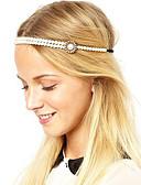 baratos Headpieces Femininos-Mulheres Vintage / Festa / Trabalho Liga Corrente para Cabelos Sólido / Fofo / Dourado