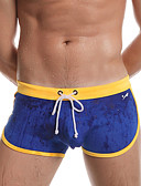 cheap Men's Swimwear-Men's Sporty Red Gray Yellow Swim Trunk Bottoms Swimwear - Color Block S M L / Summer / 1 Piece / Super Sexy