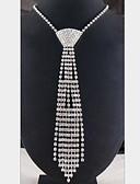 billige Skjerf til damer-Dame Dusk Lang Uttalelse Halskjeder - Sølvplett, Fuskediamant dusk Hvit Halskjeder Smykker Til