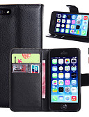 billige Herrebukser og shorts-Etui Til Apple iPhone 5 etui iPhone 6 iPhone 6 Plus iPhone 7 Plus iPhone 7 Kortholder Pung Med stativ Flip Fuldt etui Helfarve Hårdt PU