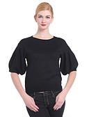 ieftine Bluze Damă-Pentru femei Mâneci Fluture Plover - Mată
