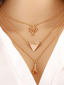 baratos Vestidos de Noite-Mulheres colares em camadas - Fashion Dourado Colar Para Diário
