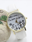 cheap Fashion Watches-Women's Quartz Wrist Watch Hot Sale Leather Band Word Watch Fashion Black White