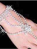 preiswerte Haarschmuck-Damen Wickelarmbänder Ring-Armbänder - Strass, versilbert, Diamantimitate Stern Armbänder Weiß Für Party Alltag