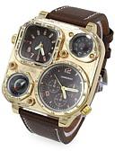 abordables Relojes de Vestir-Hombre Reloj de Pulsera Dos Husos Horarios Piel Banda Negro / Azul / Marrón / Dos año / SOXEY SR626SW