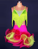 cheap Latin Dance Wear-Latin Dance Outfits Women's Performance Polyester / Spandex Tassel Top / Skirt / Samba