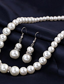 cheap Fashion Headpieces-Women's Pearl Pendant Necklace / Pearl Necklace - Pearl European, Bridal Silver Necklace 1pc For Wedding