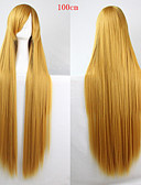 cheap Fashion Watches-Synthetic Wig Straight Asymmetrical Haircut Synthetic Hair Natural Hairline Golden Wig Women's Long Capless