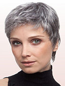 cheap Women's Nightwear-Synthetic Wig Straight Synthetic Hair Gray Wig Short Capless