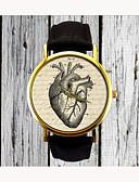 رخيصةأون ساعات موضة-للمرأة ساعة المعصم كوارتز PU فرقة مماثل Heart Shape موضة أسود بني سنة واحدة عمر البطارية / ستانلس ستيل / SSUO 377