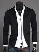 cheap Men's Blazers & Suits-Men's Cotton Blazer-Solid Colored