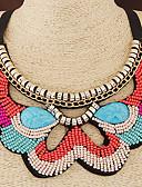 baratos Macacões & Macaquinhos-Mulheres Gargantilhas / Colarinho - Resina Boêmio, Europeu, Fashion Laranja, Azul Colar Para Casamento, Festa, Diário