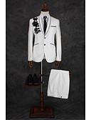 povoljno Košulje-Kristalne Uzorak Kroj po mjeri Mješavina pamuka Odijelo - Maramasti ovratnik Droit 1 bouton / odijela