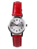 baratos Relógios Femininos-Mulheres Relógio de Pulso Quartzo Impermeável PU Banda Analógico senhoras Fashion Elegante Vermelho Um ano Ciclo de Vida da Bateria / Tianqiu 377