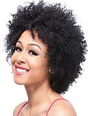 billige Truser-Syntetiske parykker Krøllet Syntetisk hår Parykk Kort Lokkløs Svart