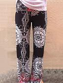 ieftine Pantaloni de Damă-Pentru femei Bumbac Picior Larg / Blugi Pantaloni Imprimeu