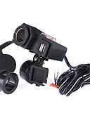זול שעונים דיגיטלים-5V 12V אופנוע iztoss יציאת USB כפול מתאם למטען עמיד למים בלי פונקציה