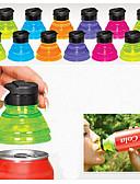 abordables Relojes de Vestir-conjunto de 6 creativos de soda protectores acolchados de tapas de botellas reutilizables pueden convertir