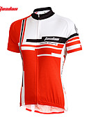 baratos Relógios da Moda-TASDAN Mulheres Manga Curta Camisa para Ciclismo - Vermelho / Rosa claro Moto Camisa / Roupas Para Esporte / Conjuntos de Roupas, Secagem