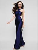 preiswerte Kleider für besondere Anlässe-Eng anliegend Schmuck Boden-Länge Charmeuse Abiball / Formeller Abend Kleid mit Plissee durch TS Couture®