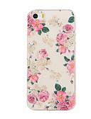 baratos Biquínis e Roupas de Banho Femininas-Capinha Para iPhone 5 / Apple Capinha iPhone 5 Estampada Capa traseira Flor Macia TPU para iPhone SE / 5s / iPhone 5