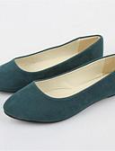 abordables Vestidos de Madrina-Mujer Zapatos Vellón Verano Tacón Plano Azul Real / Borgoña / Verde Oscuro