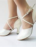 baratos Vestidos de Mulher-Mulheres Sapatos de Dança Moderna Glitter / Courino Sandália / Salto Lantejoulas / Gliter com Brilho / Presilha Salto Personalizado Personalizável Sapatos de Dança Branco / Púrpura / Interior