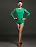 povoljno Odjeća za trbušni ples-Latino ples Leotards Žene Seksi blagdanski kostimi Čipka / Viskoza Čipka Dugih rukava Prirodno Hula-hopke / Onesie / Latin Dance