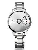 baratos Aço Inoxidável-V6 Homens Relógio de Pulso Venda imperdível Aço Inoxidável Banda Amuleto / Relógio Criativo Único Prata